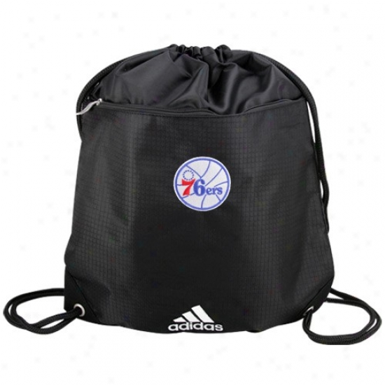 Adidas Philadelphia 76ers Black Nba Logo Gym Sack