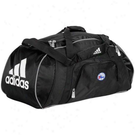Adidas Philadelphia 76ers Black Team Logo Gym Duffel Bag