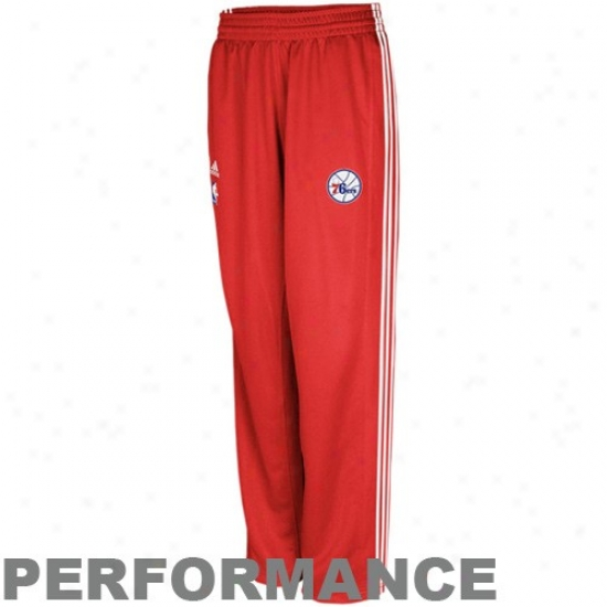 Adidas Philadelphia 76ers Red On-court Warm Up Performance Pants