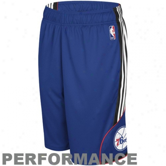 Adidas Philadelphia 76ers Royal Blue Dream Performance Shorts