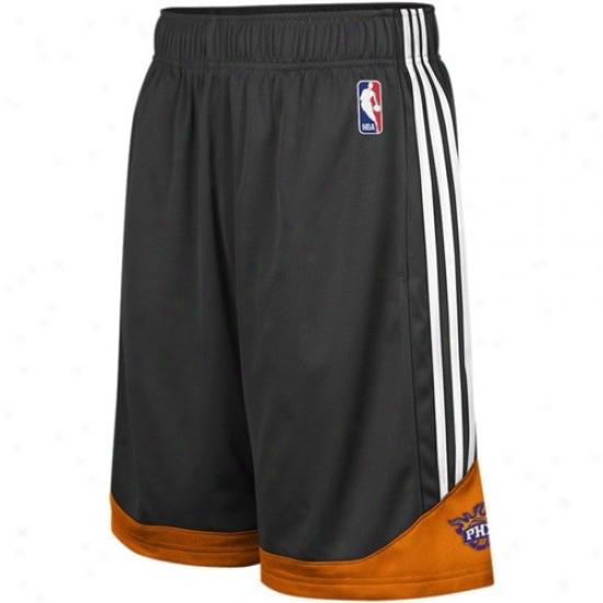 Adidas Phoenix Suns Black Pre-game Mesh Basketball Shorts