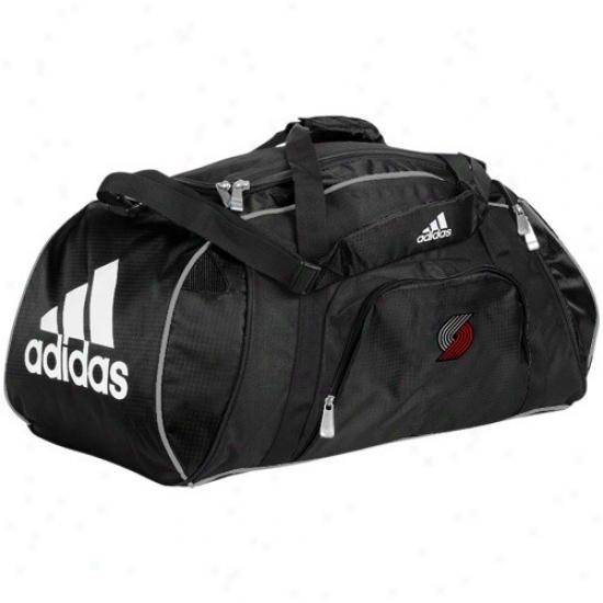 Adidas Portland Trail Blazers Black Team Logo Gym Duffel Bag