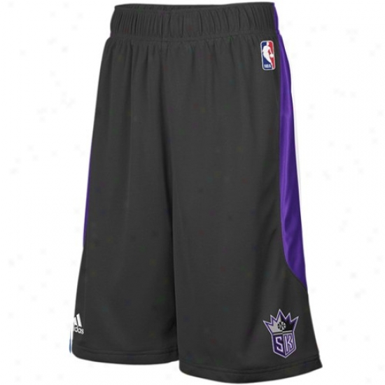 Adidas Sacramento Kings Black Cb Basketball Shorts