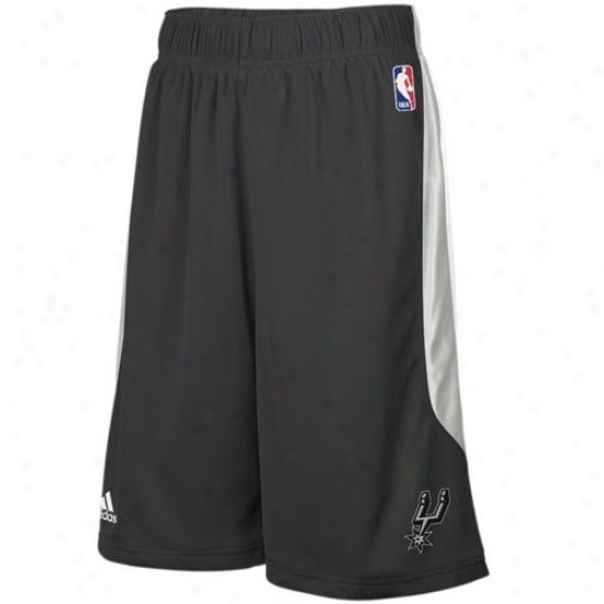 Adidas San Antonio Spurs Black Cb Basketball Shorts