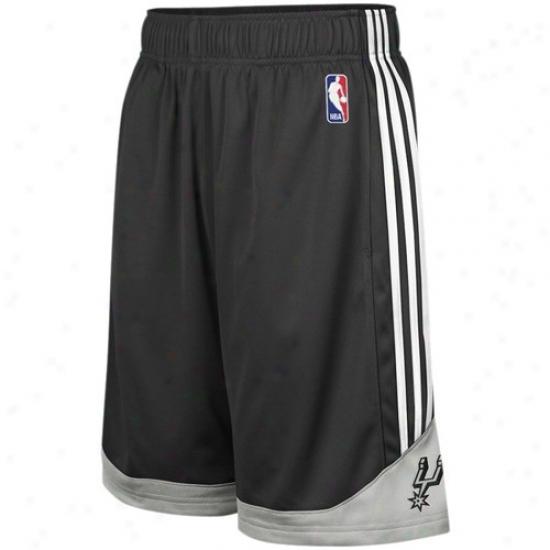 Adidas San Antonio Spurs Black Pre-game Mesh Basketball Shorts