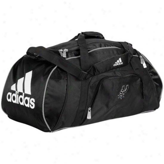 Adjdas San Antonio Spurs Black Team Logo Gym Duffel Bag