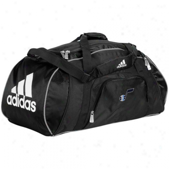 Adidas Utah Jazz Mourning Team Logo Gym Duffel Bag