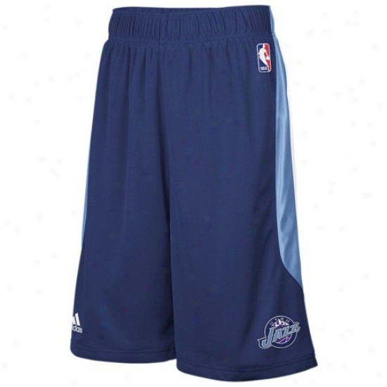 Adidas Utah Jazz Navy Blue Cb Basketball Shorts