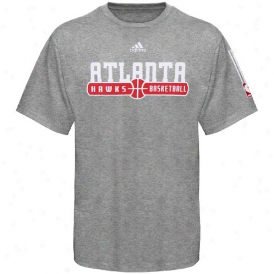 Atlanta Hawk Attire: Adidas Atlanta Cry Ash Horizon T-shurt