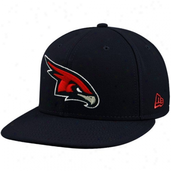 Atlanta Hawk Gera: Unaccustomed Era Atlanta Hawk Black 59fifty Primary Logo Flat Brim Fitted Cardinal's office