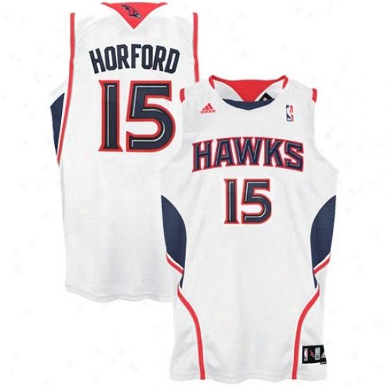 Atlanta Hawk Jersey : Adidas Atlanta Hawk #15 Al Horford Happy Home Swingman Basketball Jersey