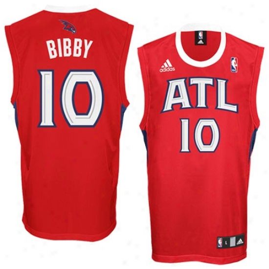 Atlanta Hawk Jerseys : Adidas Atlanta Haawk #10 Mike Bibby Red Replica Basketball Jerseys