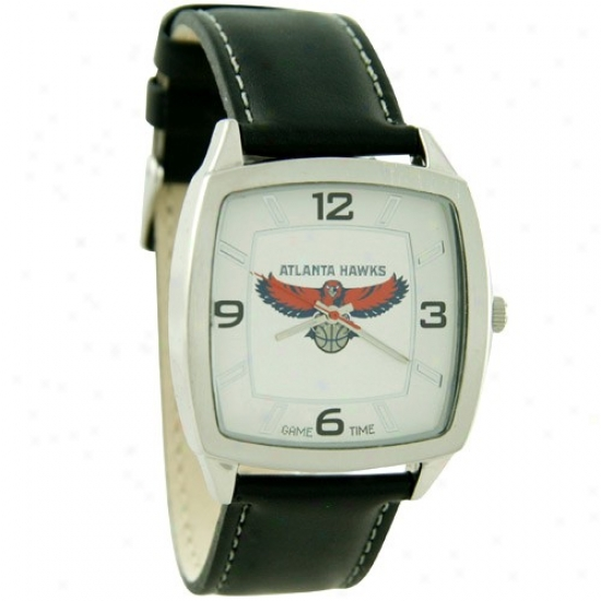 Atlanta Hawk Wrist Watch : Atlanta Cry Retro Wrist Watch W/ Leather Company