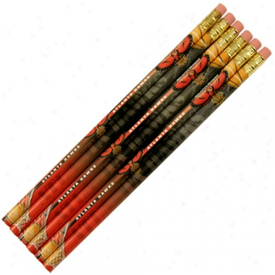 Atlanta Hawks 6-pack Team Logo Pencil Set