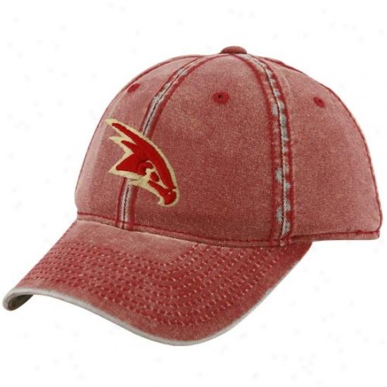 Atlanta Hawks Gear: Adidas Atlanta Hawks Red Distressed Flex Fit Hat