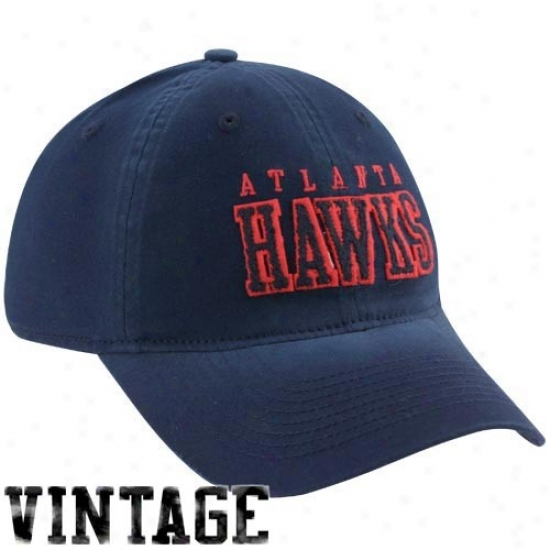 Atlanta Hawks Hat : Adidas Atlanta Hawks Navy Blue Inclination Flex Fit Hat