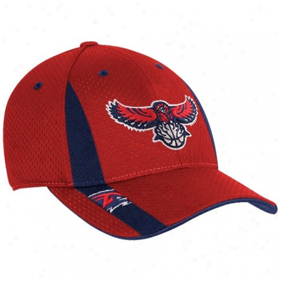 Atlanta Hawks Hat : Adidas Atlanta Hawks eRd Swingman Flex Humor Hat