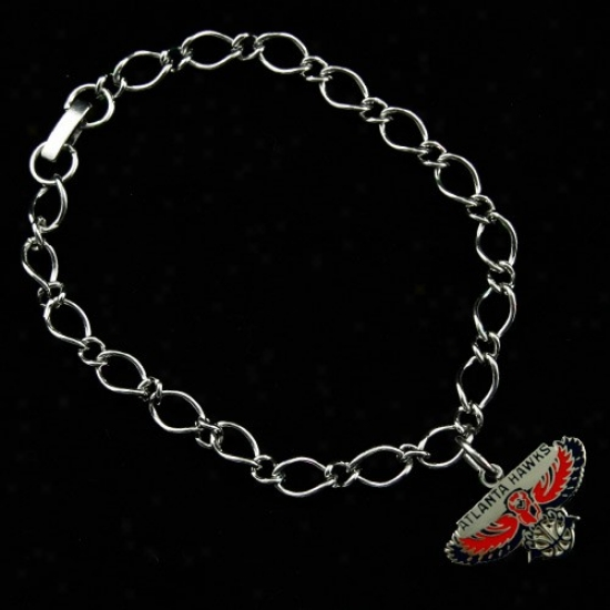Atlanta Hawks Ladies Silver-tone Charm Bracelet
