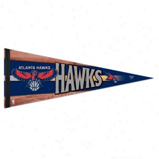 Atlanta Hawks Navy Blue 12'' X 30'' Premium Felt Pennant