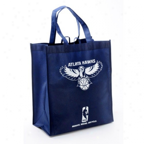 Atlanta Hawks Navy Blue Reisable Tote Bag