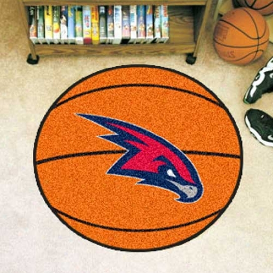 Atlanta Hawkx Orange Round Basketball Mat