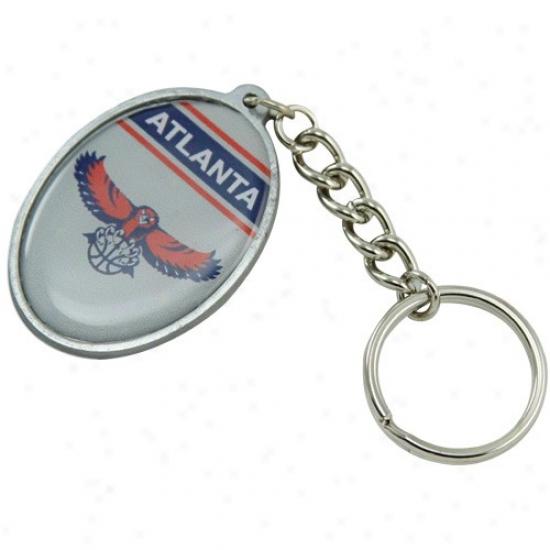 Atlanta Hawks Oval Keychain