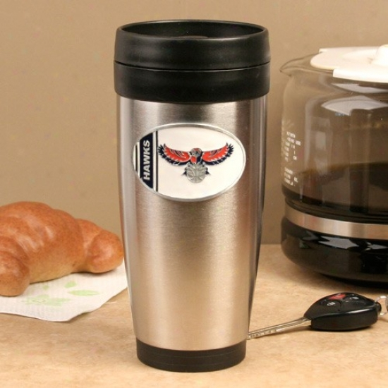 Atlanta Hawks Stainless Steel Team Logo Travel Tumbler