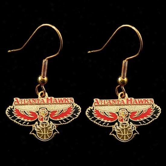 Atlanta Hawks Team Logo Dangle Earrings