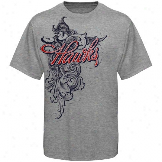 Atlanta Hawks Tees : Atlanta Hawks Axh Scroll Tees