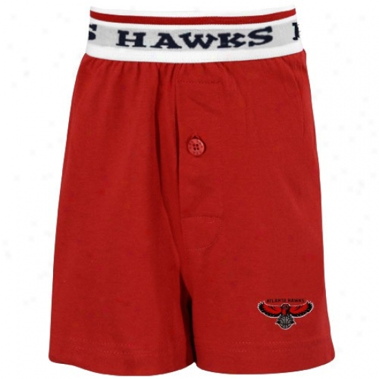 Atlanta Hawks Youth Red Solid Banded Boxer Shorts