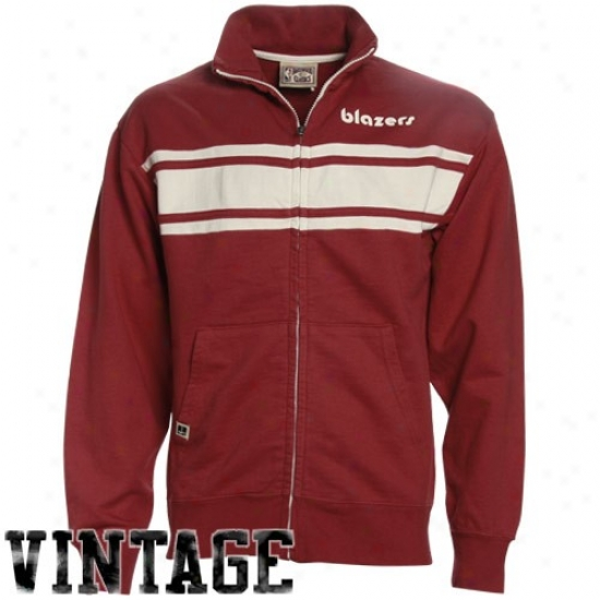 Blazers Jacket : Blazers Red Race Legends Track Jacket