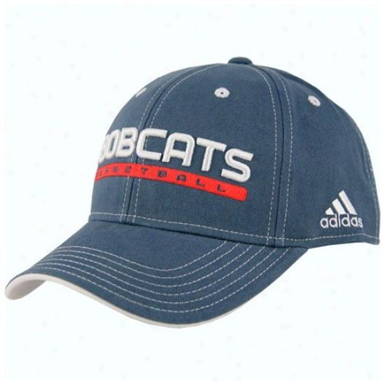 Bobcats Merchandisr: Adidas Bobcats Blue Official Team Pro Hat