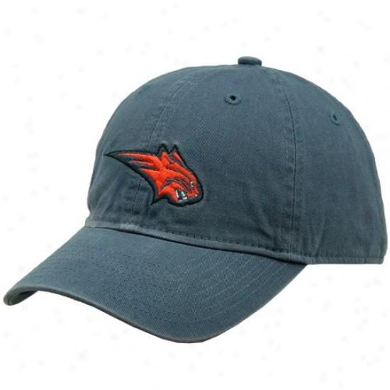 Bobcats Merchandise: Adidas Bobcats Navy Blue Basic Logo Slouch Hat
