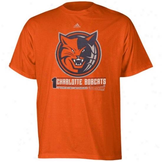 Bobcats Shirts : Adidas Bobcats Orange 2010 Nba Playoff Bound Shirts