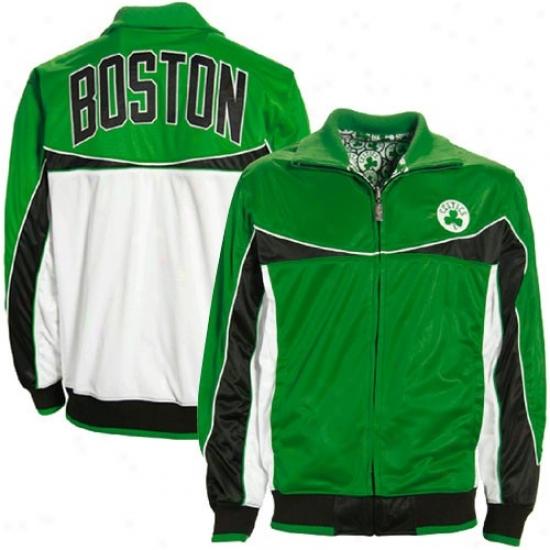 Boston Celtic Jerkin : Boston Celtic Green-white iSk Reversible Track Jacket