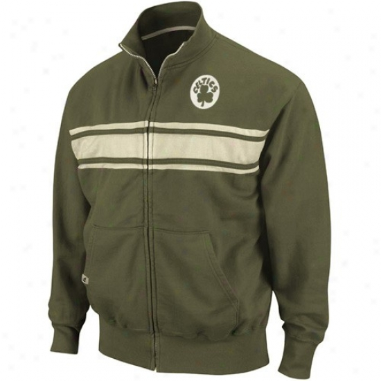 Boston Celtic Jackets : Boston Celtic Inexperienced Race Legends Track Jackets