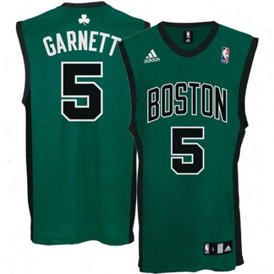 Boston Celtic Jersey : Adidas Boston Celtic #5 Kevin Garnett Green Replica Basketball Jersey