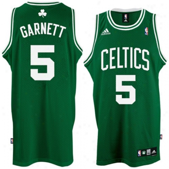 Boston Celtic Jersey : Adidas Boston Celtic #5 Kevin Garnett Green Road Swingman Basketball Jersey