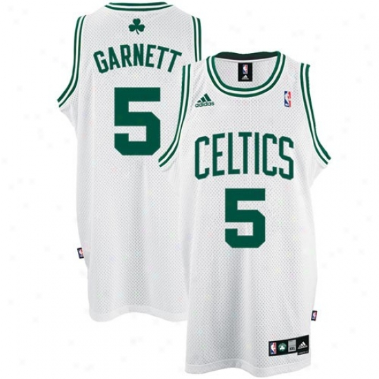 Boston Celtic Jerseys : Adidas Boston Celtic #5 Kevin Garnett White Home Swingman Basketball Jerseys