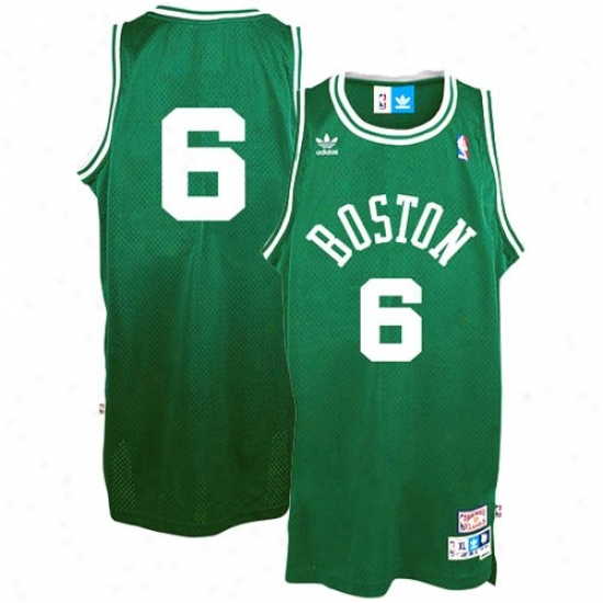 Boston Celtic Jerseys : Adidas Bodton Celtoc #6 Bill Russell Green Hardwood Classic Swingman Throwback Basketball Jerseys