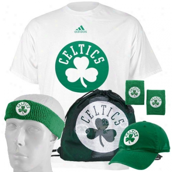 Boston Celtic Tshirts : Adidas Boston Celtic Game Day Value Pack