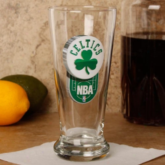 Boston Celtics 16.5 Oz. Enhanced Hi-def Flared Pilsner Glass