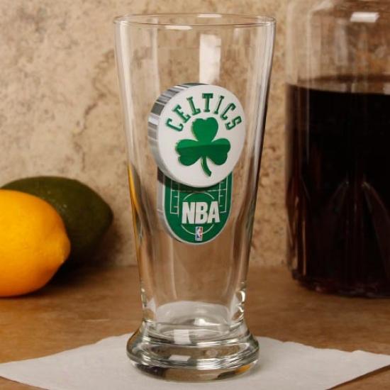 Boston Celtics 16.5 Oz. Enhanced Hi-def Flared Pilsner Glass