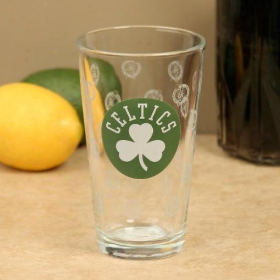 Boston Celtics 16oz. Satin Etch Pint Glass