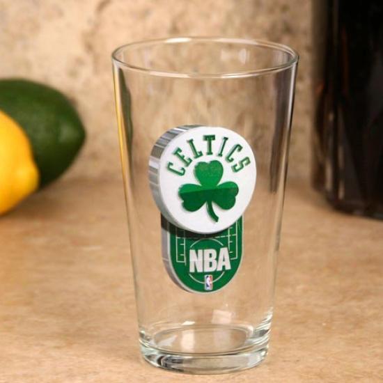 Boston Celtics 17 Oz. Enhanced Hi-def Mixing Glass