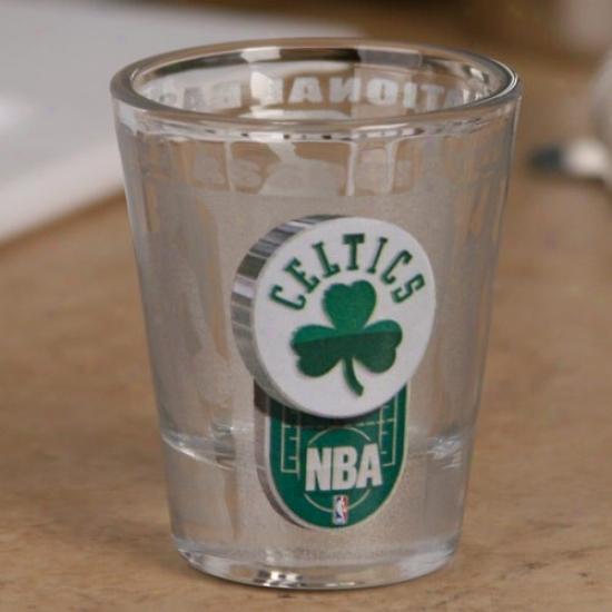 Boston Celtics 2 Oz. Enhance Hi-ref Shot Glass