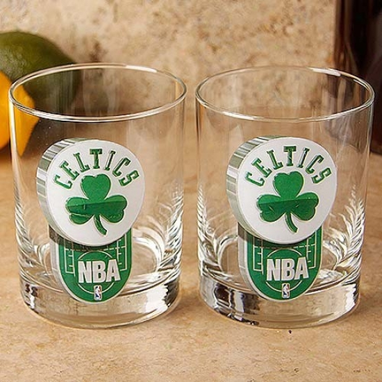 Boston Celtics 2-pack Enhanced Hi-def 14oz. Executive Rocks Glass