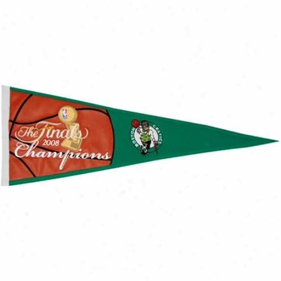 Boston Celtics 2008 Nba Champions Wool Blend Banner