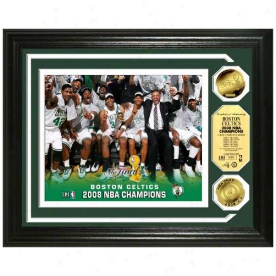 Boston Celtics 2008 Nba Finals hCampions Celebration Photomint W/ 2 24kt Gold Coins