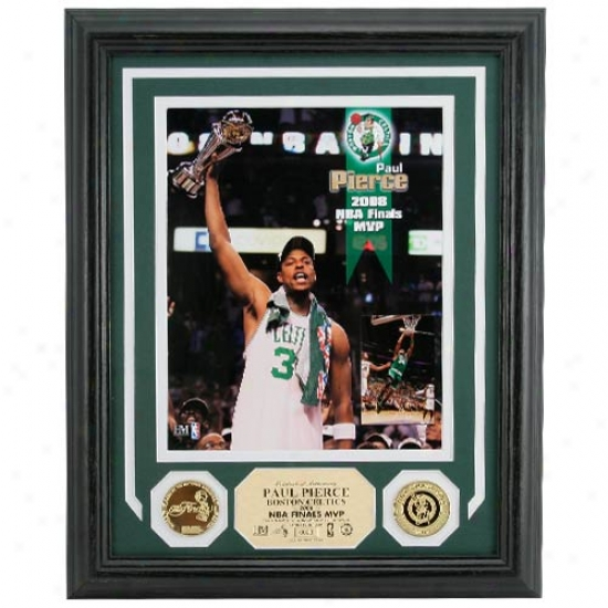 Boston Celtics 2008 Nba Finals Champions Mvp Photomint W/ 2 24kt Gold Coins